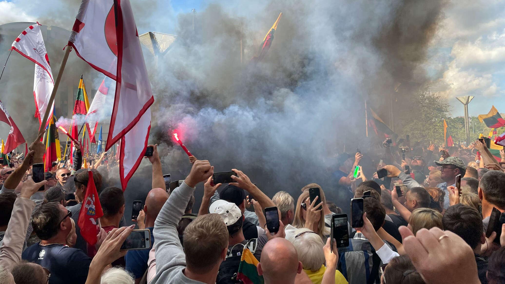 В Литве во время акций протестов задержано более 20 человек